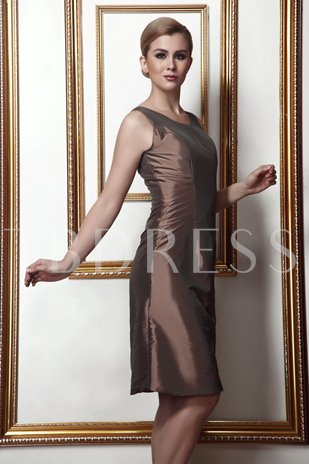 Straps Sheath Knee-Length Mother Dress With Jacket