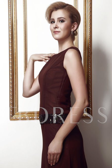 Sheath Floor-Length Round Neckline Mother of the Bride Dress