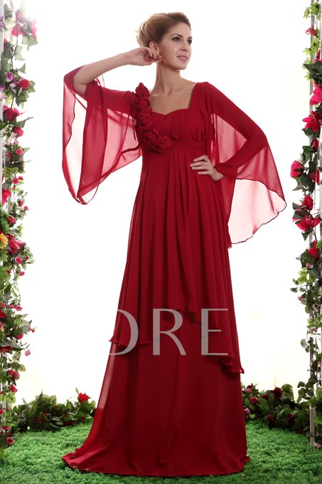 Flowers Tiered Mother of the Bride Dress