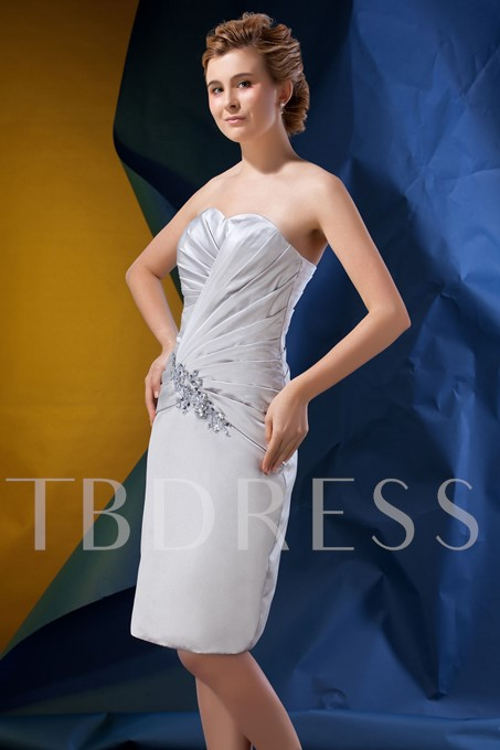 Beaded Pleats Column Mother Dress with Jacket