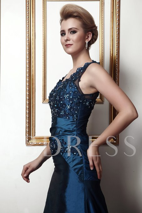 Appliques Sequins Mother of the Bride Dress With Shawl