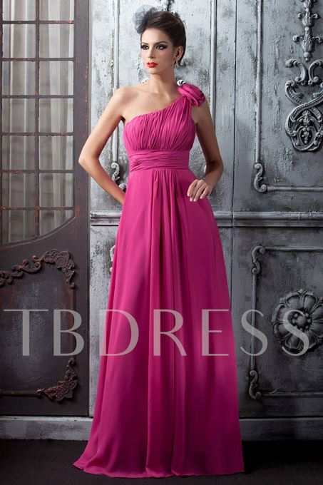 One-Shoulder Floor-Length Homecoming/Prom Dress