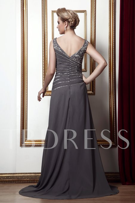 Embroidery Sequins Mother of the Bride Dress with Jacket