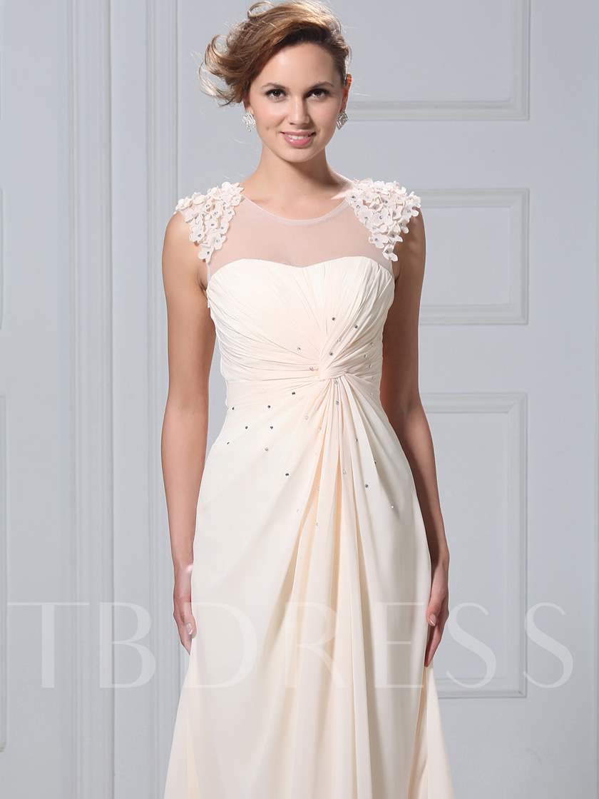 A-Line Beading Appliques Mother of the Bride Dress