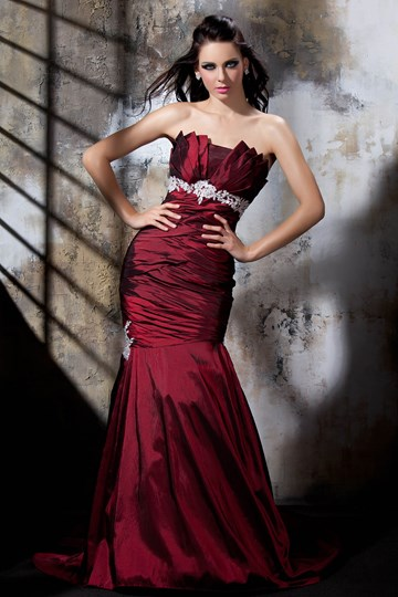 Mermaid Sweetheart Sleeveless Evening Dress