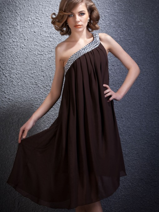 Empire One-Shoulder Short/Mini-Length Daria's Homecoming Dress