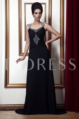 Beaded Square Neckline Taline's Mother of the Bride Dress