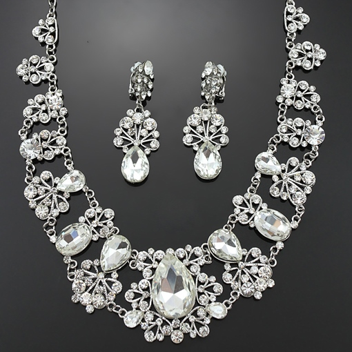 Style Alloy With Rhinestone Wedding Jewelry Set