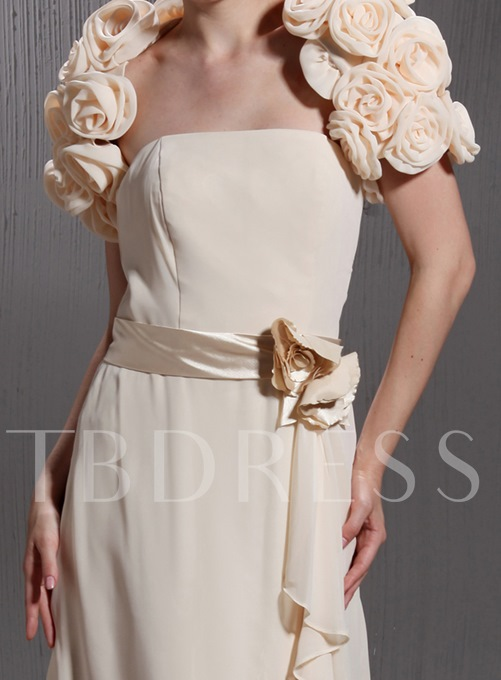 Flower Shaped Short Sleeve Evening Jacket
