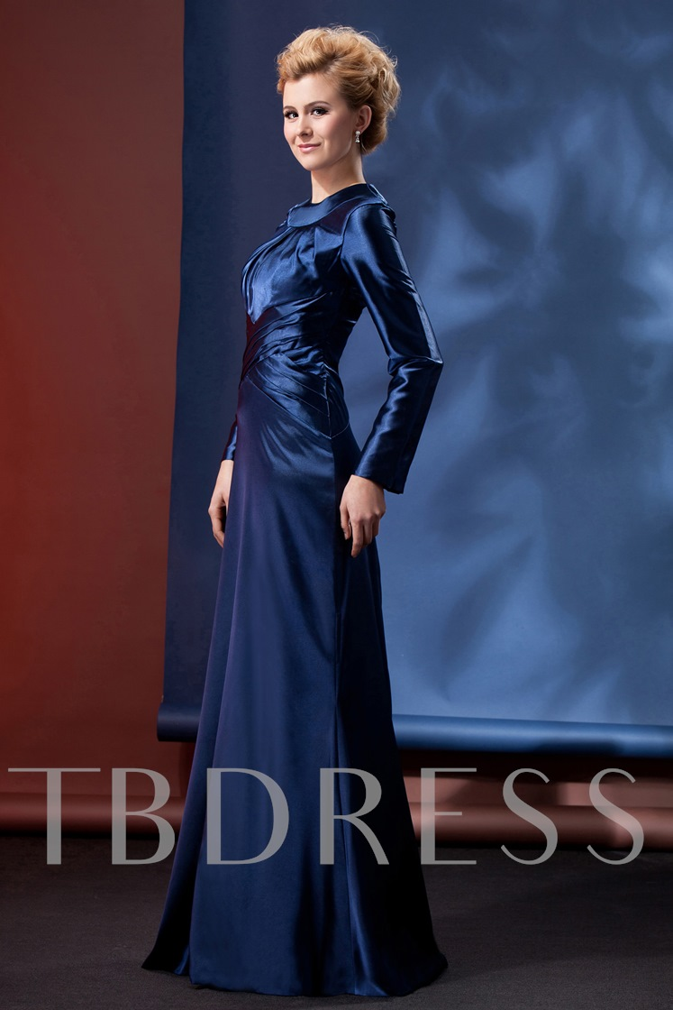 and Dignified Column Floor-Length Alina's Mother Evening Dress