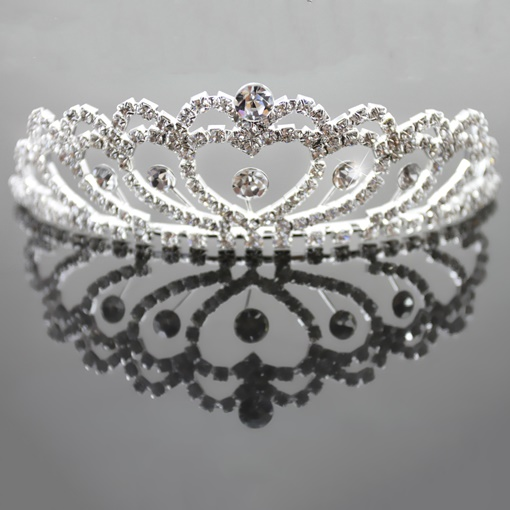 Heart Shaped Alloy with Rhinestone Wedding Tiaras