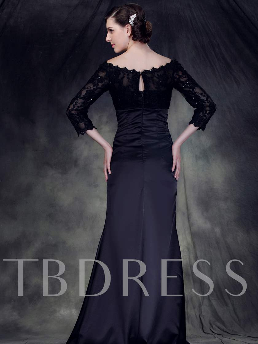 Lace 3/4 Length Sleeves Mother of the Bride Dress