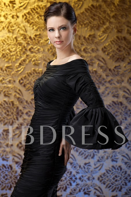 Sheath Knee-Length Mother Dress with Sleeves