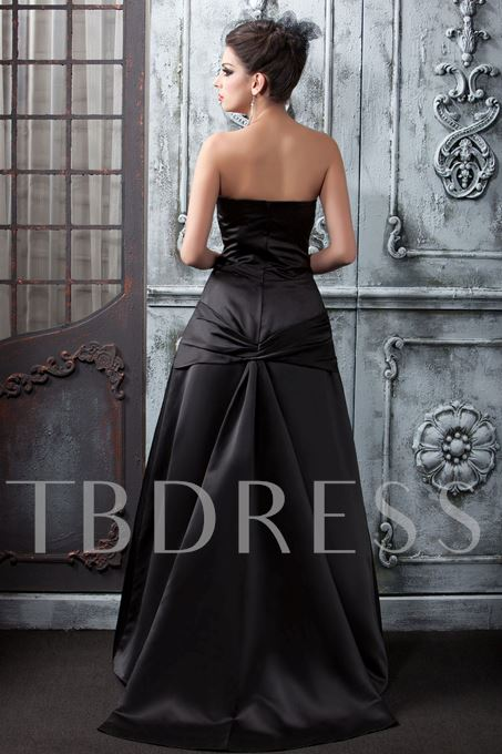 A-Line Strapless Floor-Length Taline's Prom Dress