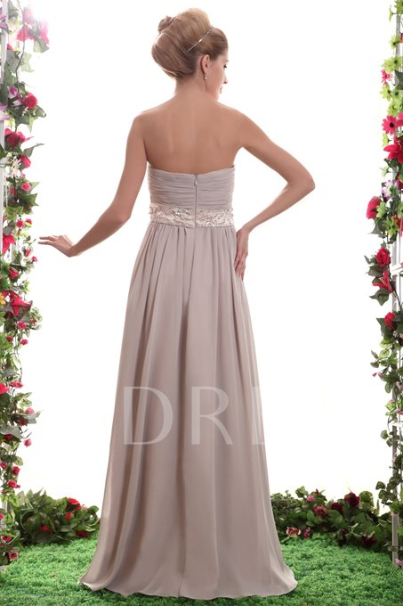 Beading A-Line Strapless Floor-length Nastya's Bridesmaid Dress