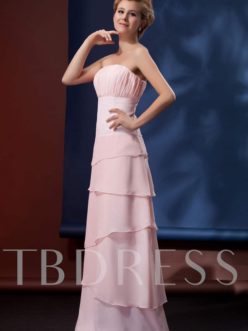 Strapless Tiered Mother of Bride Dress With Jacket