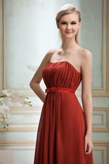 Strapless Ruched A-line Strapless Knee-Length Sell Yana's Bridesmaid Dress