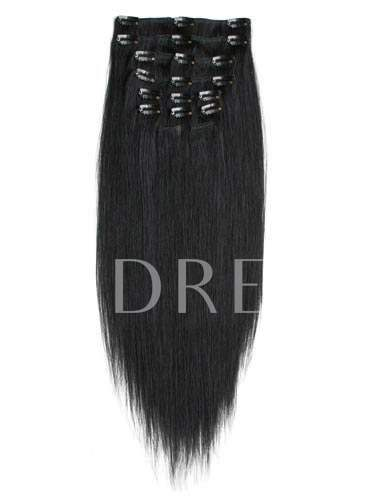 100% Human Straight Hair Clip in Hair Extension Virgin Hair