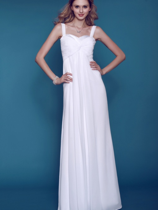 Empire Dasha's Sweetheart Straps Beach Wedding Dress