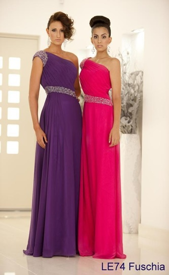 A-Line One-Shoulder Beadings Long Evening/Prom Dress