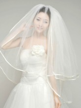 Elbow-Length Tulle Wedding Veil