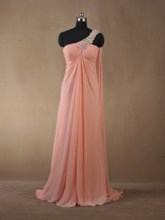 Column Floor-Length One-Shoulder Prom Dress