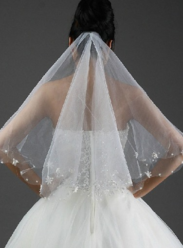 Fingertip Wedding Bridal Veils