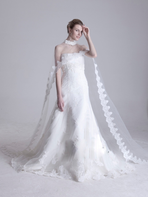 Long Tailing Length Lace Wedding Jacket