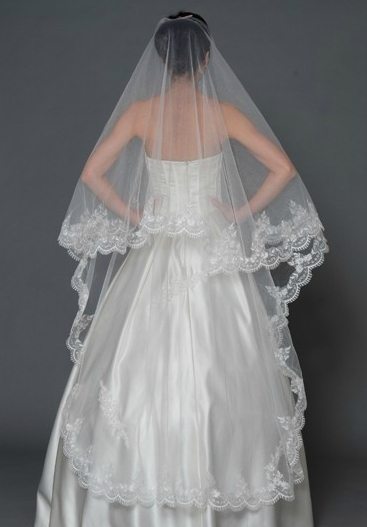 White Cathedral Length Wedding Veil