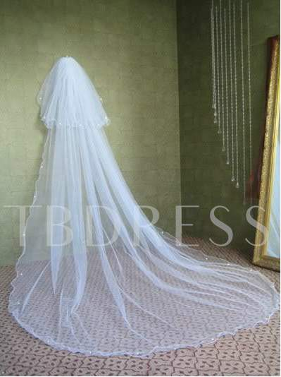 White Tulle Wedding Veil