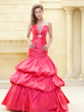 Sweetheart Ruched Bodice with Mermaid Pick up Ela's New Prom Dress