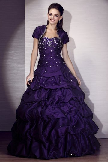 Floor-Length Sweetheart Quinceanera Dress With Jacket/Shawl