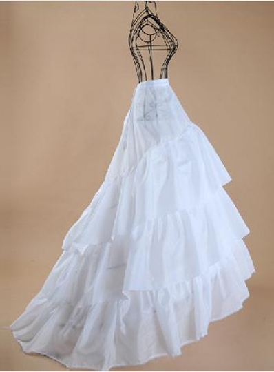 Three Layers Silk Court Train Wedding Petticoats
