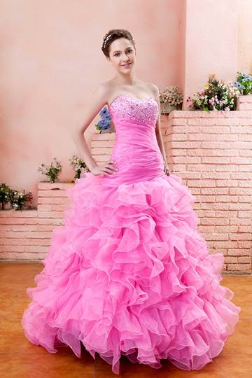 Floor-Length Sweetheart Beading Prom/Ball Gown Dress