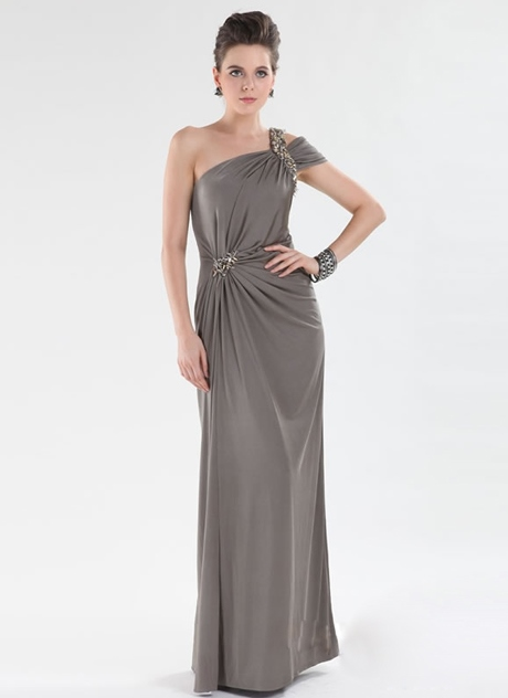 Sheath Floor-Length One-Shoulder Prom Dress
