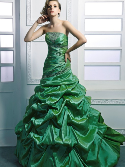 Mermaid Strapless Floor-length Ruched Bodice Anita's Prom Dress