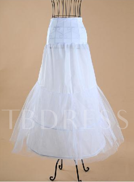 Slim Fish Tailing Gauze with Steel Surpport Wedding Petticoats