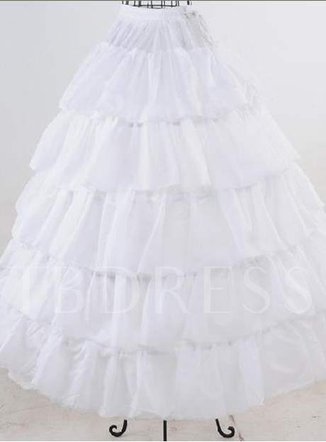 Five Layers with Steel Surpport Crinoline Wedding Petticoats