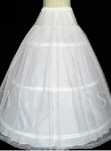 Double Layers Gauze with Three Steel Support Wedding Petticoats