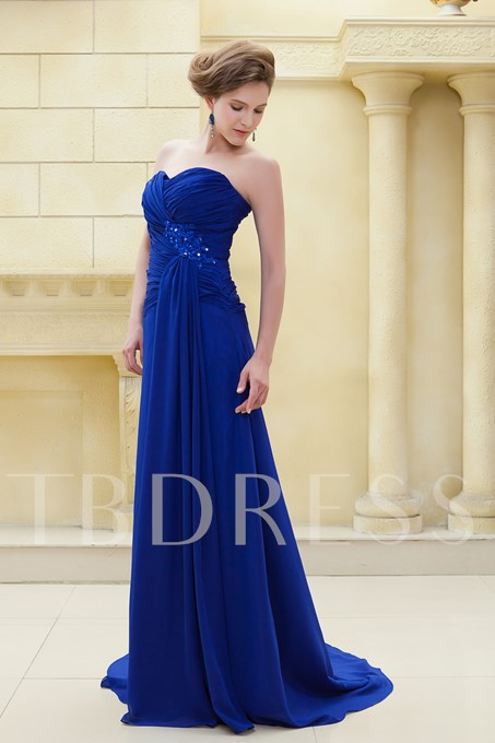 A-Line Floor-Length Strapless Ela's Mother of the Bride Dress