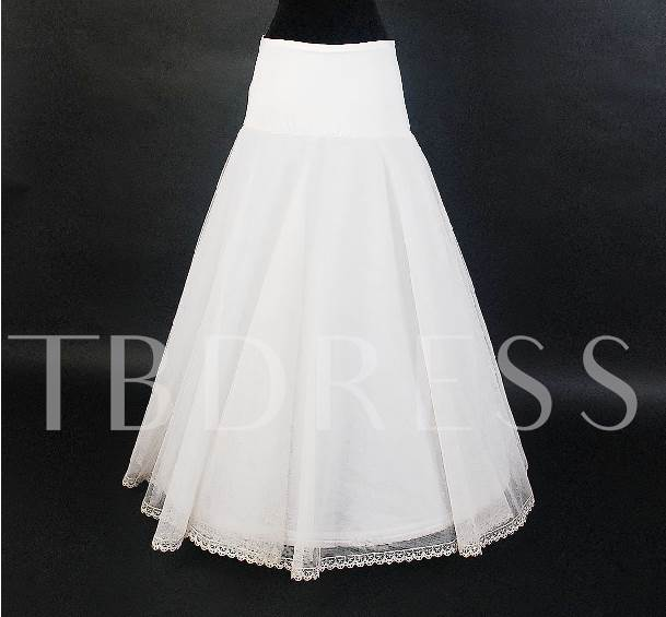 Multilayers Floral Edge Wedding Petticoats