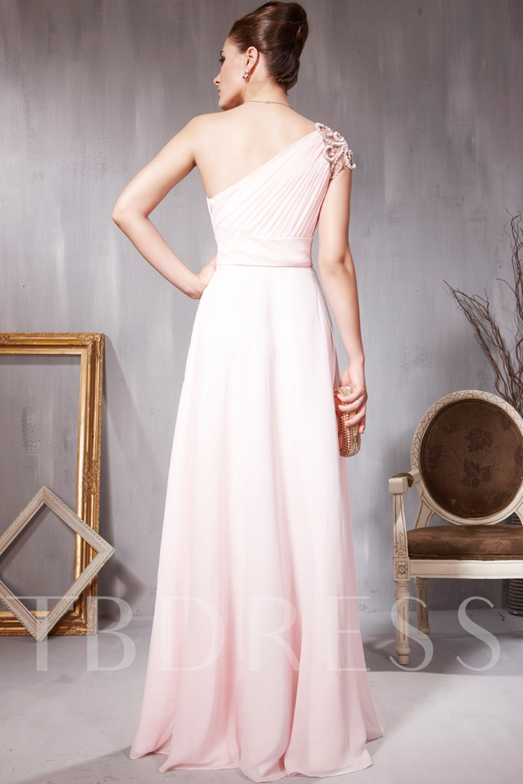 A-Line Empire Sleeveless Sashes Caped Floor-length Prom/Evening Dress
