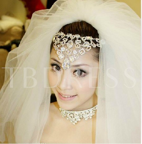 4-layer Elbow Wedding Veil With Lace Applique Edge