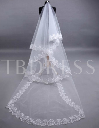 Lace Cathedral Length Wedding Veil