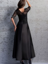 Half Sleeve Ankle-Length Mother of the Bride Dress