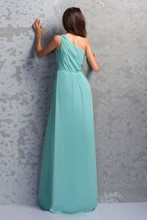 Ruched A-Line One-Shoulder Floor-Length Miriama's Bridesmaid Dress