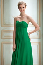 Sweetheart Ruched A-Line Long Bridesmaid Dress
