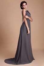 Straps Flowers Long Bridesmaid Dress