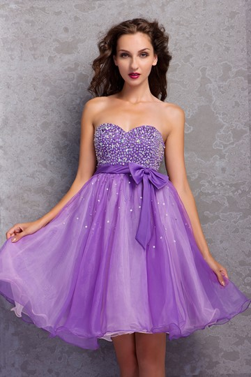 A-Line Mini-Length Sweetheart Miriama's Prom/Homecoming Dress