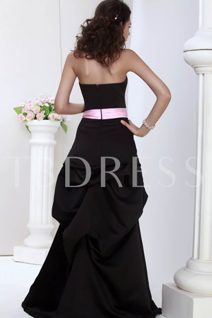A-line Strapless Ruched Juliana's Bridesmaid Dress